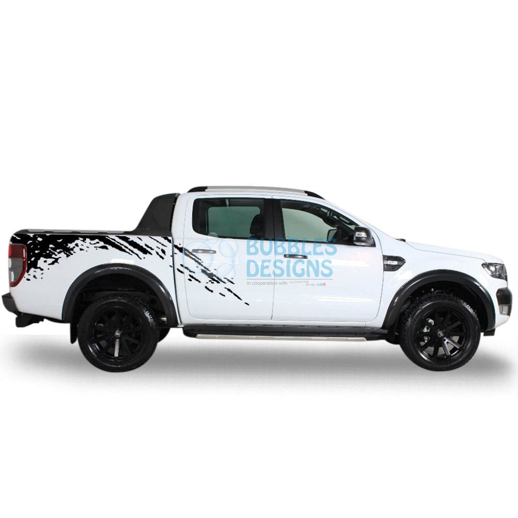 Sticker design for ford ranger double cab 2011 present black