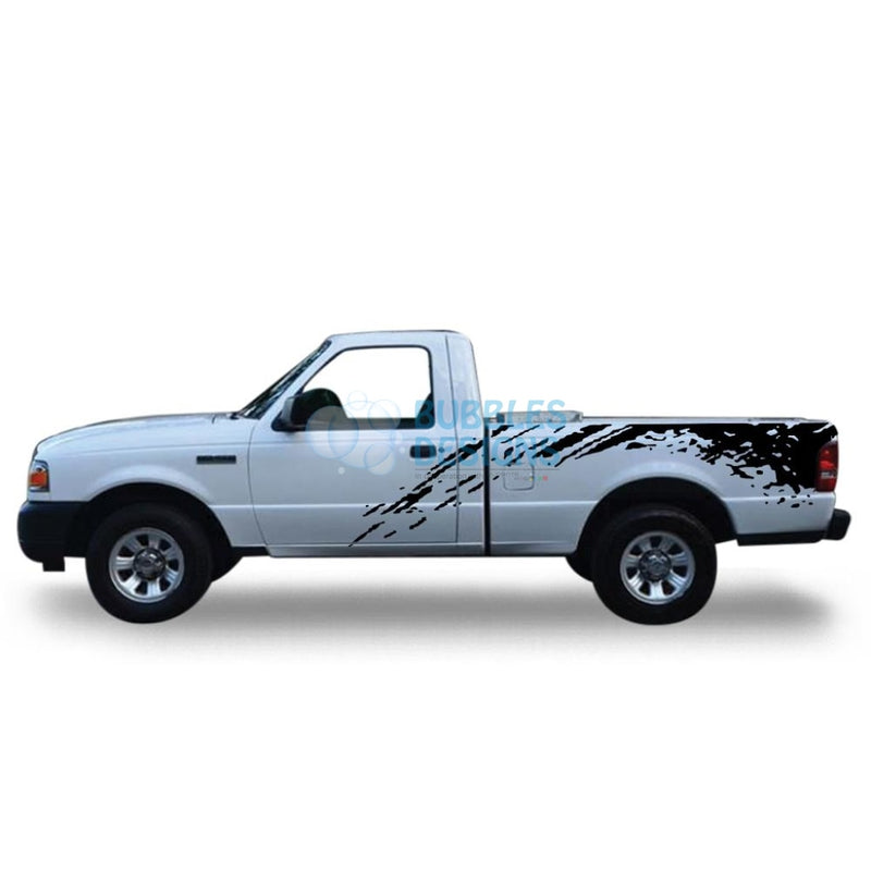 Sticker Design For Ford Ranger Regular Cab 1998 - 2012 Black