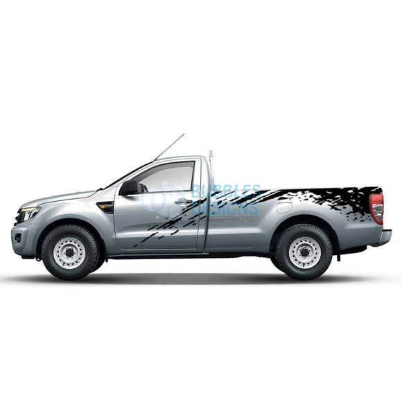Sticker Design For Ford Ranger Regular Cab 2011 - Present Black