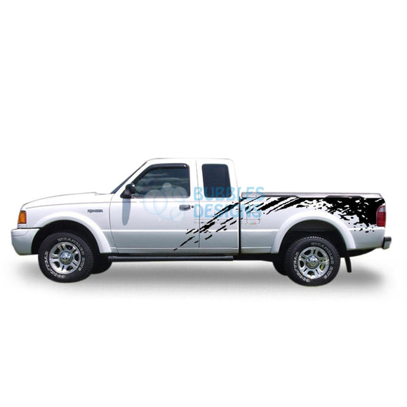 Sticker Design For Ford Ranger Super Cab 1998-2012 Black