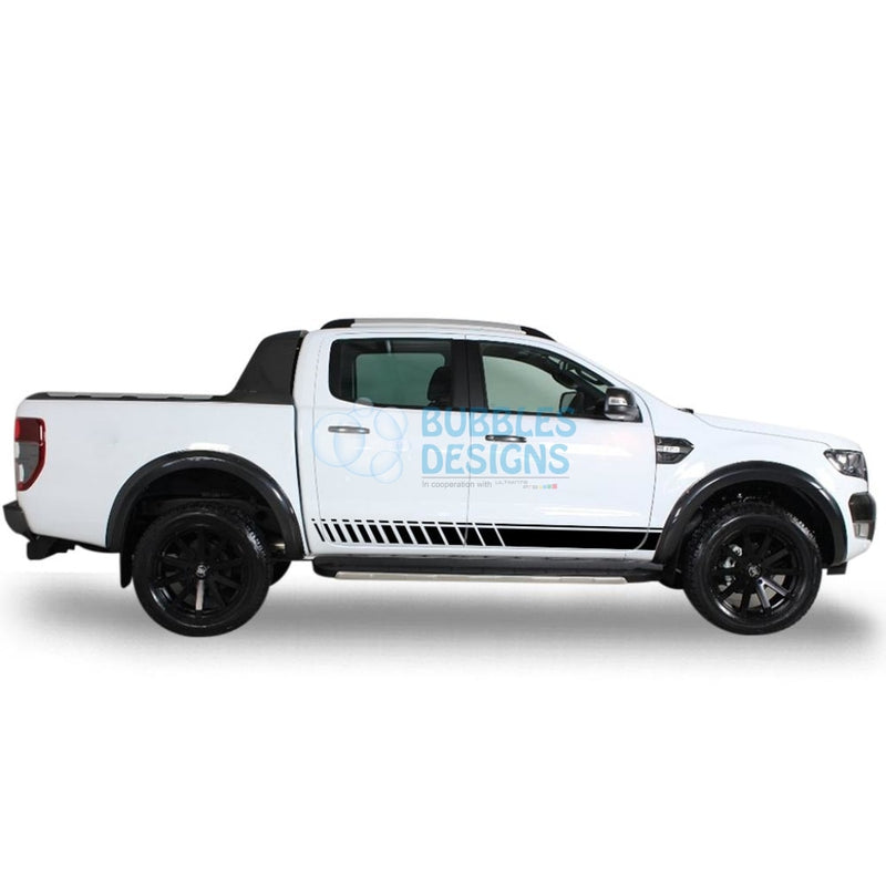 Sticker For Ford Ranger Double Cab 2011 - Present Black
