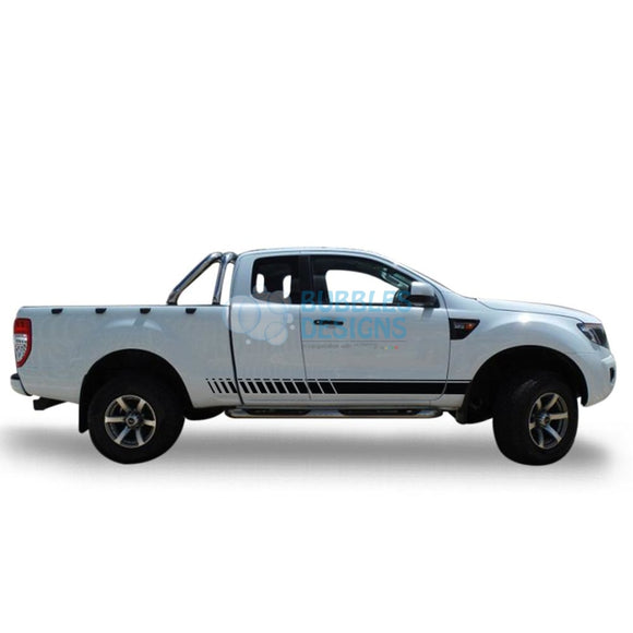 Sticker For Ford Ranger Super Cab 2011 - Present Black
