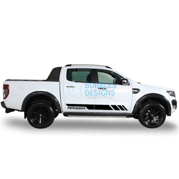 Sticker Vinyl Decal Design For Ford Ranger Double Cab 2011 - Present Black