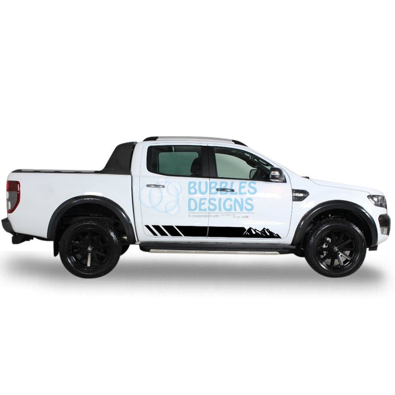 Sticker Vinyl Design For Ford Ranger Double Cab 2011 - Present Black