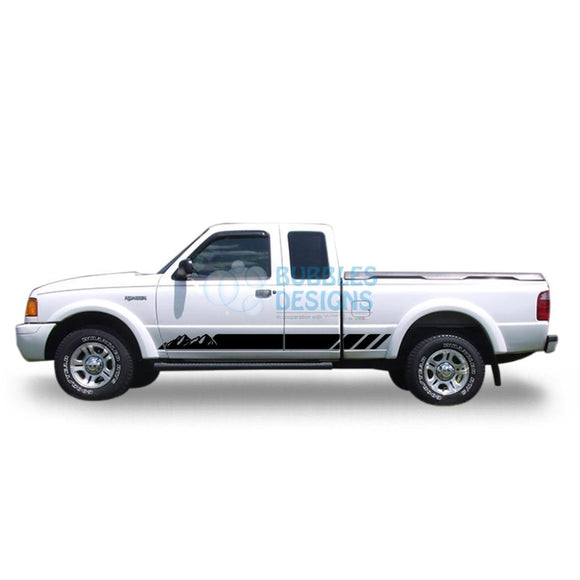 Sticker Vinyl Design For Ford Ranger Super Cab 1998-2012 Black