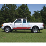 Sticker Vinyl Design For Ford Ranger Super Cab 1998-2012 Red
