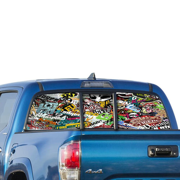 Bomb Sticker Perforated for Toyota Tacoma decal 2009 - Present