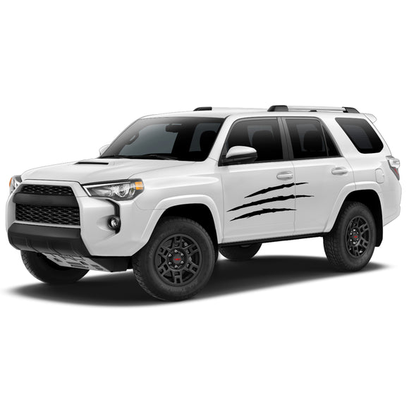 Decal Sticker Vinyl Side Scratch Stripe Kit Compatible with Toyota 4Runner 2009-Present