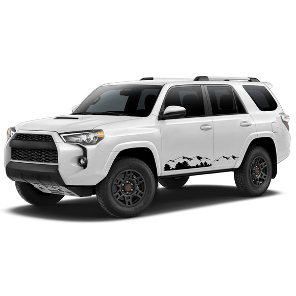 Mountain Door Side Decal Sticker Vinyl Side Stripe Kit Compatible with Toyota 4Runner 2009-Present