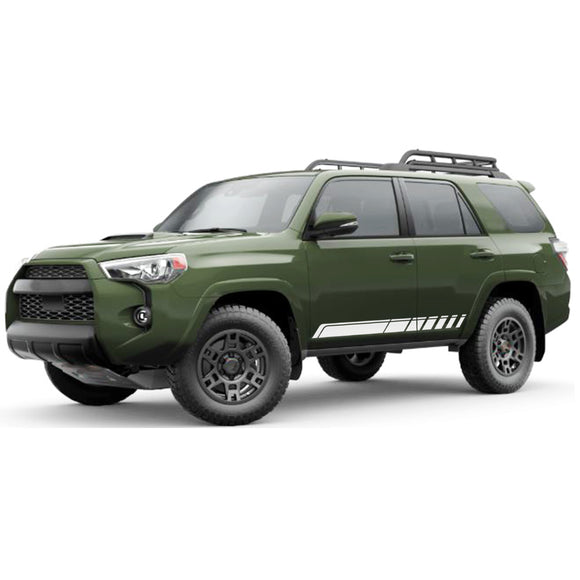 Side door Decal Sticker Vinyl Side Stripe Kit Compatible with Toyota 4Runner 2009-Present