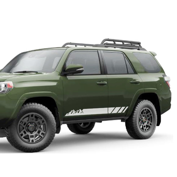 Decal Sticker Vinyl Side Mountain Stripe Kit Compatible with Toyota 4Runner 2009-Present