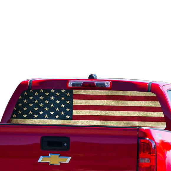 USA Flag Perforated for Chevrolet Colorado decal 2015 - Present