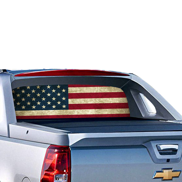 USA Perforated for Chevrolet Avalanche decal 2015 - Present