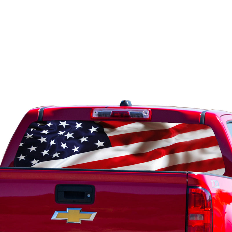 USA 1 Flag Perforated for Chevrolet Colorado decal 2015 - Present