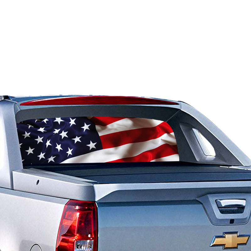 USA 1 Perforated for Chevrolet Avalanche decal 2015 - Present