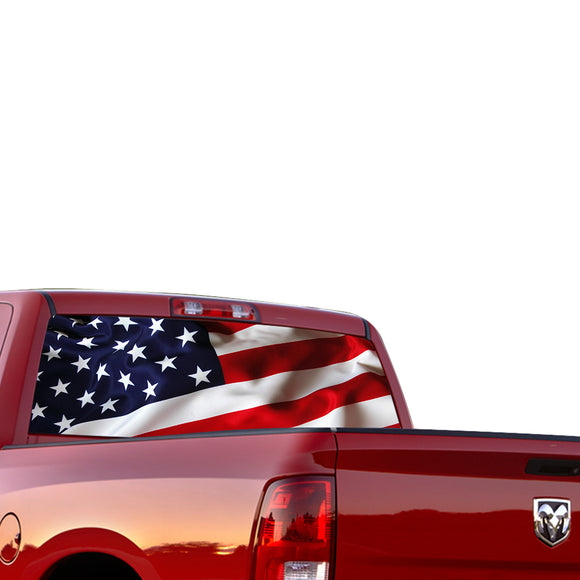 USA Perforated for Dodge Ram decal 2015 - Present