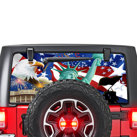 USA New York Perforated for Jeep Wrangler JL, JK decal 2007 - Present