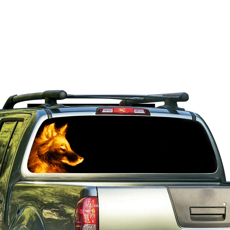 Wolf Perforated for Nissan Frontier decal 2004 - Present