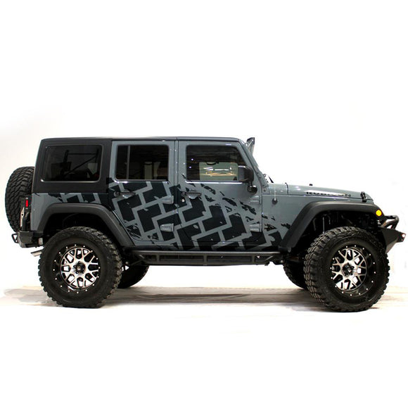jl jk wrangler decals stamp tire side sticker 2018 - Present