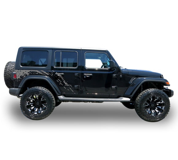 Decal bed mud spalsh Compatible with Jeep JL Wrangler 2019-Present