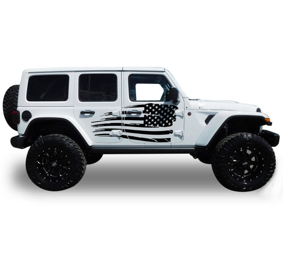 Decal Vinyl USA Sticker Compatible with Jeep JL Wrangler 2019-Present