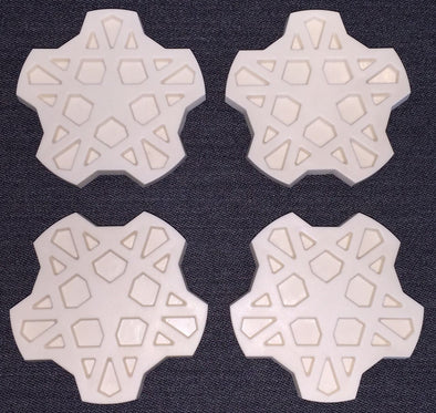 FORD XE ESP Fairmont Ghia SNOWFLAKE wheel centre cap set of 4 and GOLD paint kit NEW