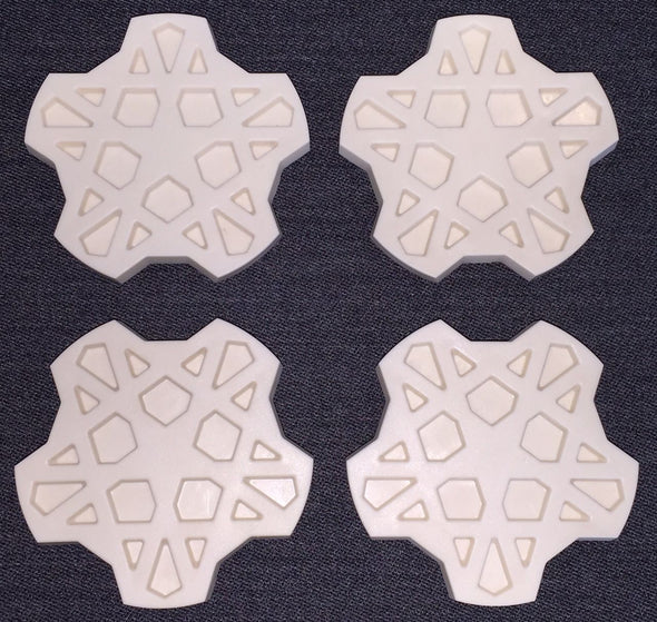 FORD XE ESP Fairmont Ghia SNOWFLAKE set of 4 centre caps NEW INJECTION MOULDED ABS