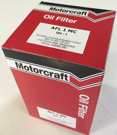 FORD Oil Filter AFL1 XC COBRA XD XE ESP XF Ghia 6 cylinder V8 Falcon Fairmont Fairlane LTD