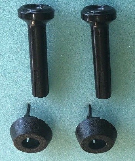 FORD XD XE Door Lock BUTTON & SURROUND NEW set of 2 ABS Plastic Falcon Fairmont
