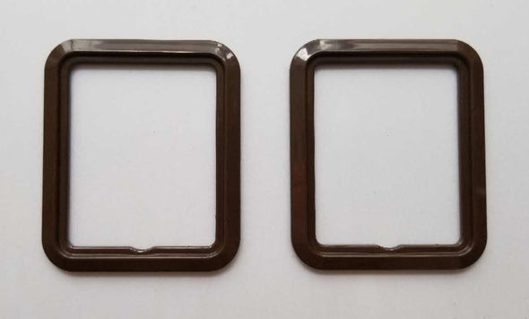 FORD XD XE BROWN DARK CHAMOIS window switch plate & surround PAIR Falcon Fairmont ZJ ZK Fairlane ESP