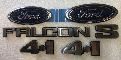 FORD XD BADGE KIT 6 PIECE - FALCON S 4.1 FORD OVAL