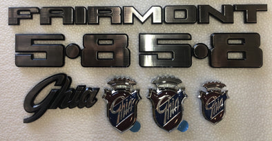 FORD XD XE BADGE KIT 7 PIECE - FAIRMONT GHIA 5.8