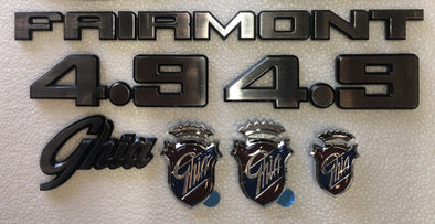 FORD XD BADGE KIT 9 PIECE- FAIRMONT GHIA 4.9