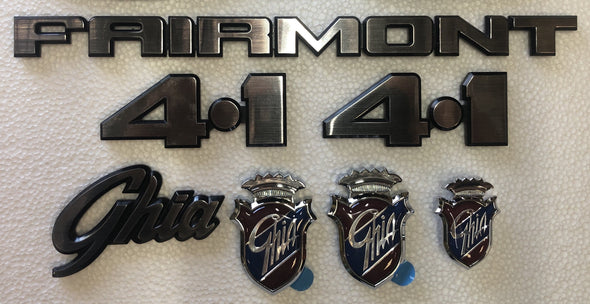 FORD XD XE BADGE KIT 7 PIECE - FAIRMONT GHIA 4.1