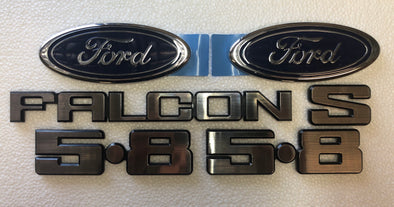 FORD XD BADGE KIT 6 PIECE - FALCON S 5.8 FORD OVAL