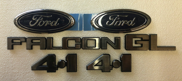 FORD XD BADGE KIT 6 PIECE - FALCON GL 4.1 FORD OVAL