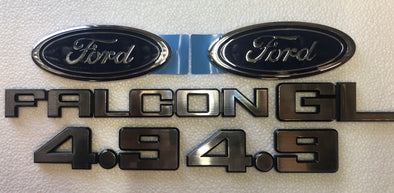 FORD XD BADGE KIT 6 PIECE - FALCON S 4.9 FORD OVAL