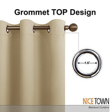 NICETOWN Thermal Insulated Blackout Curtains in Beige
