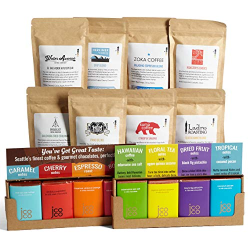 Bean Box - Deluxe Whole Bean Coffee and Chocolate Gift Box