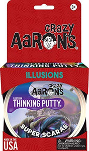 Crazy Aaron's Thinking Putty, 3.2 Ounce, Super Illusions Super Scarab