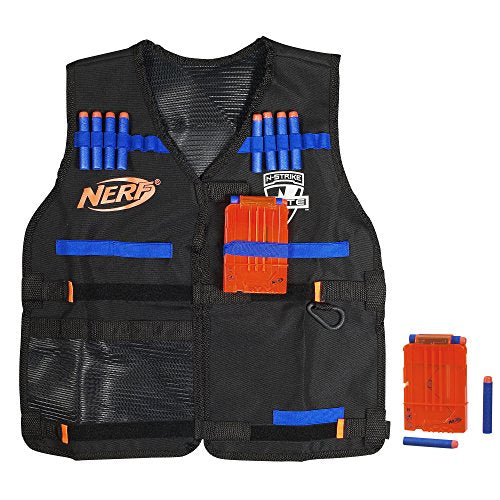 Official Nerf Tactical Vest N-Strike Elite Series Includes and 12 Official Nerf Elite Darts For Kids, Teens, and Adults