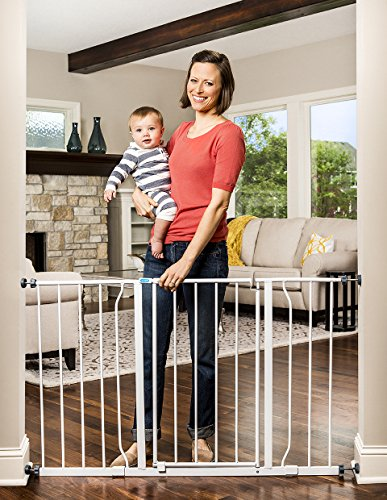 Regalo Easy Open 50 Inch Wide Baby Gate, Includes 6-Inch and 12-Inch Extension Kit, With Both Pressure and Wall Mount Kits