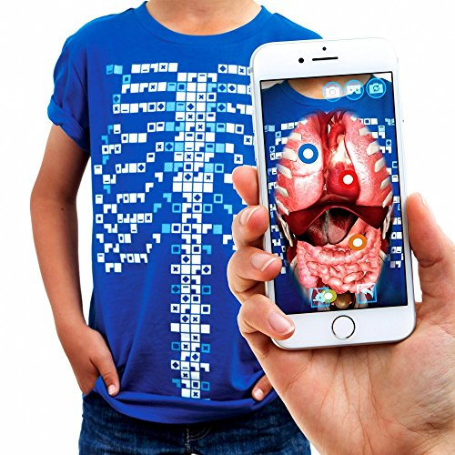Curiscope Virtuali-Tee Educational Augmented Reality T-Shirt Children: XL (12-14)