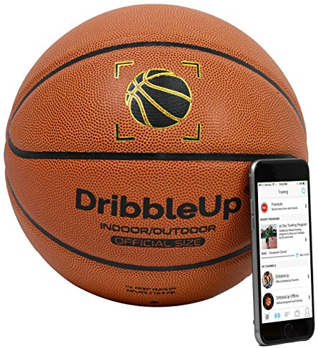 DribbleUp Smart Basketball with Included Virtual Trainer App - Official Size 29.5 Inches