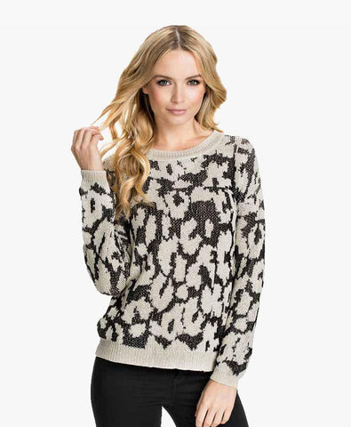 Printed Off-Shoulder Blouson Top