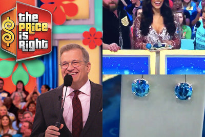Blue Diamond Earrings Featured on The Price is Right