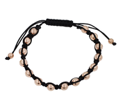 Mens Beaded and Leather Bracelet