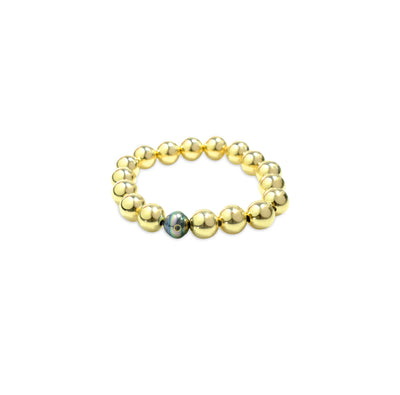 Tahitian Black Pearl and Black Diamond Bracelet