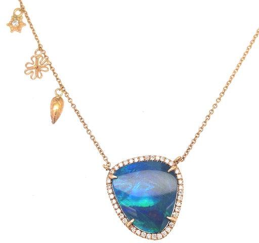 Australian Blue Opal Necklace