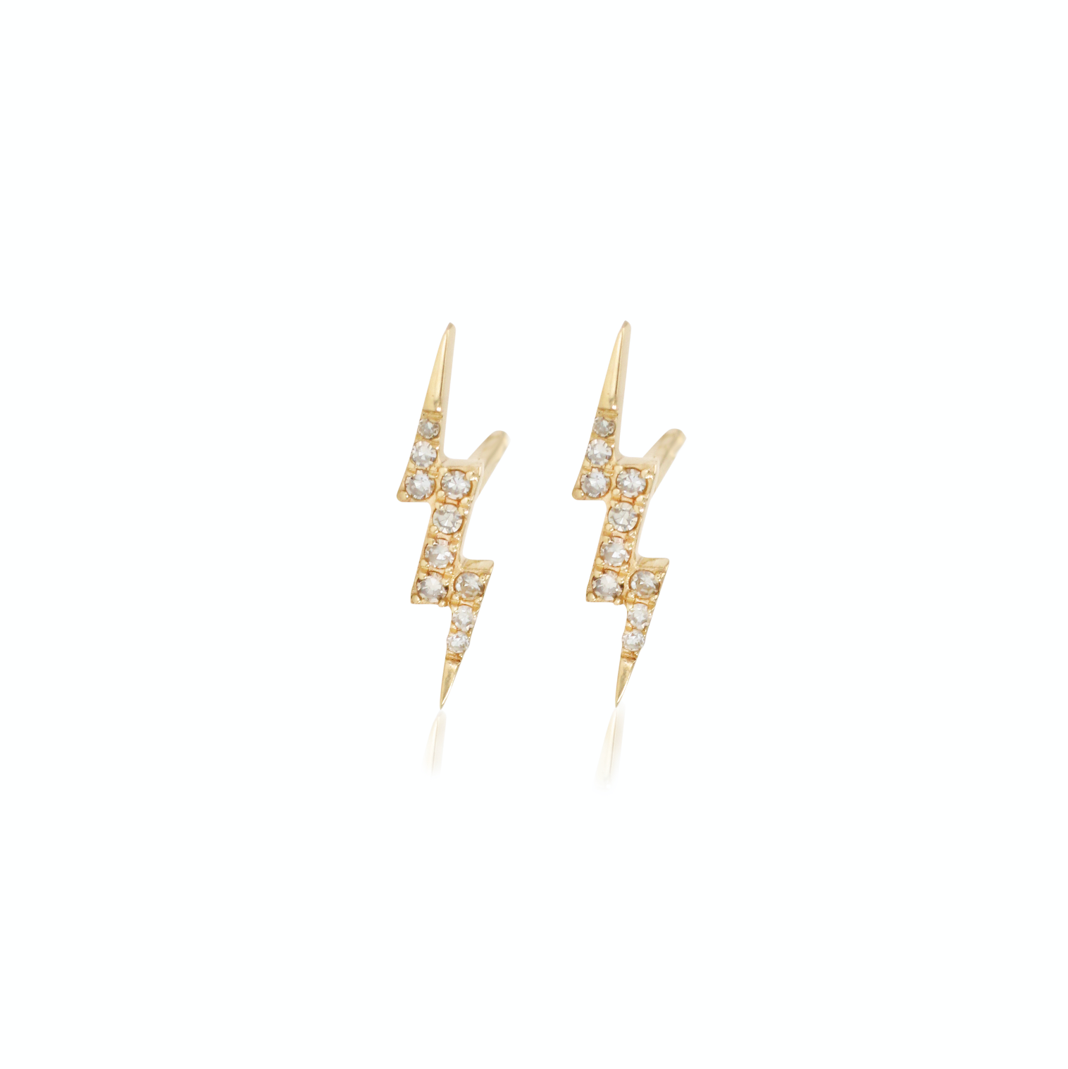 Yellow Gold Lightning Bolt Earrings Delpozzojewelry